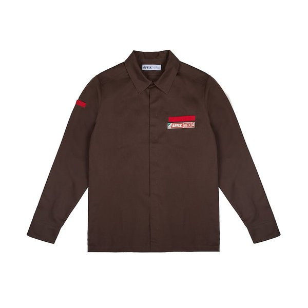UNIFORM SHIRT AFFWSS20T01-BROWN_A.jpg